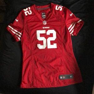 NFL Tops - NIKE On Field Women's 49ers Jersey